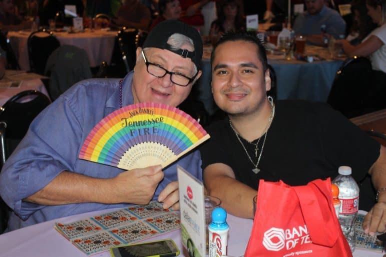 Rob With Rainbow Fan
