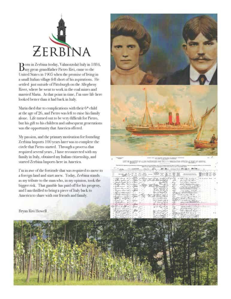 zerbina history